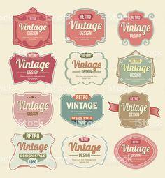 Vintage Vector Label Set royalty-free stock vector art