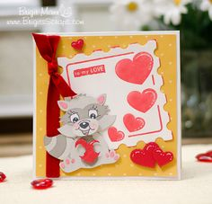 To My Love, A Valentine's Day Card! Peachy Keen Stamps, Fiskars Fuse, My Creative Time, Unity Stamps