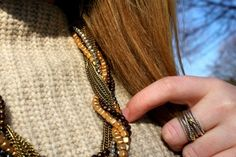 """Meghan of """"WIT & Whimsy"""" wearing our Twisted in Chains Necklace."""
