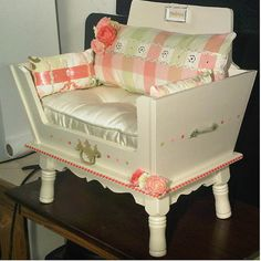 Luxury shabby chic Dog bed/ Cat bed/ Pet bed/ by JadeyGirlDesigns, $549.99