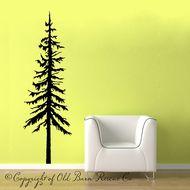 pine tree - wall decal