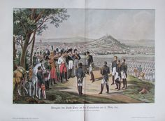 ca. 1901 Reinhold: Napoleons Abreise von Fontainebleau - alter Druck old print
