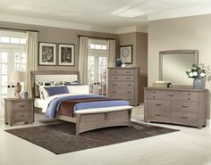 Virginia House Furniture Gray Bedroom