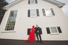 An upshot of the big side of the building with me and him - maybe my bridal party too