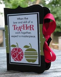 Teacher's Apple Top Note Gift Card Box by MrsOke - Cards and Paper Crafts at Splitcoaststampers