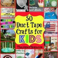 50 Duct Tape Crafts for Kids