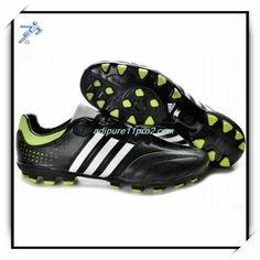 low priced f5888 c607d Soccer Zone Shoes Uchida Adidas Adipure 11Pro 2 TRX AG Black White Slime