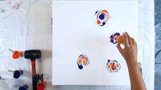 Abstract Canvas Art, Diy Canvas Art, Homemade Canvas Art, Homemade Wall Art, Painting Abstract, Acrylic Paintings, Art Painting Gallery, Diy Painting, Pour Painting