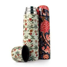 loral thermoses from London's Victoria & Albert Museum are based on the designs of Arts and Crafts genius William Morris. Suitable for picnics on the grass or English Breakfast during the daily commute. $26.95 (available floral patterns may differ from photo) | patinastores.com