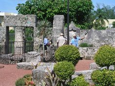 Another pics of the east end of the Coral Castle complex. I'm actually standing right in front of 6 pointed star above Ed's bathtub pointing toward the bedroom area. Homestead Florida, Coral Castle, Homesteading, Sidewalk, Bathtub, Star, Bedroom, Building, Standing Bath