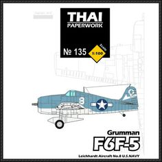 Grumman F6F-5 Hellcat Fighter Ver.2 Free Aircraft Paper Model Download - http://www.papercraftsquare.com/grumman-f6f-5-hellcat-fighter-ver2-free-aircraft-paper-model-download.html