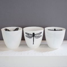 Fly Tea Light Holder: This beautiful tea light holder is made from the finest white porcelain, so that when a candle is lit inside a gorgeous glow fills the room. Each one comes with a different decoration of a butterfly or dragonfly. Sometimes on the inside and sometimes the outside.
