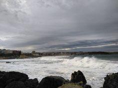 Disfrutando de las olas
