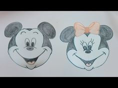 Drawing Tutorial : Disney Mickey Mouse & Minnie By PlayDoh Cap - YouTube