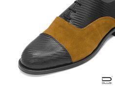 Luxury Carbon Fiber Products Blucher Leather Shoes and Carbon Fiber Design