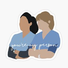 Wallpaper Stickers, Grey Wallpaper, Red Bubble Stickers, Cute Stickers, Greys Anatomy Logo, Meredith And Christina, Desenho Harry Styles, Mini Canvas Art, Youre My Person