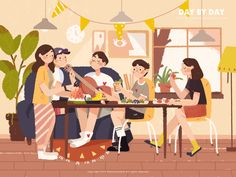 Yan Chien on Behance Family Illustration, Cute Illustration, Character Illustration, Graphic Design Illustration, Watercolor Illustration, Digital Illustration, Character Sketches, Art Illustrations, Buch Design