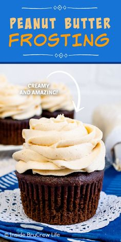 Best Honey Peanut Butter Frosting - the combination of peanut butter and honey makes this homemade buttercream taste amazing. Easy recipe to make for cakes or cupcakes. Peanut Butter Frosting, Creamy Peanut Butter, Best Honey, Frozen Treats, Bread Baking, Easy Desserts, Food To Make, Breakfast Recipes, Sweet Tooth