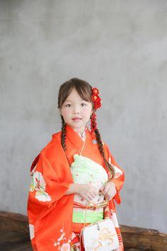 七五三 着物 てんとん写真館 Harajuku, Snow White, Sari, Disney Princess, Disney Characters, Style, Fashion, Saree, Swag