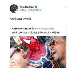 And the bullying of Tom Holland continues - - [ ] Avengers Memes, Marvel Jokes, Marvel Funny, Marvel Avengers, Marvel Comics, Marvel Actors, Marvel Characters, Sebastian Stan, Star Lord