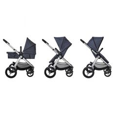 A perfectly cosmopolitan stroller for a wide range of lifestyles in a style that lasts, this generously sized stroller makes it easy to alternate between forward facing, rear facing or lie-flat with a no fuss, swift motion. Start with a bassinet style for your newborn and transition into a toddler stroller for up to 4 years.  With a large basket for your gear, a sturdy and smooth ride, and petite and relatively light frame, this denim hooded stroller is the practical and stylish choice for…
