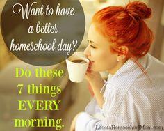 7 keys to a successful homeschool morning