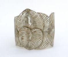 Eucalyptus Leaf Cuff Bracelet Hand Hammered Metal Alloy #GoGo #Cuff