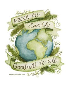 Wouldn't this look perfect on your white Christmas mantel? Peace on Earth 8x10 Print by BeSmallStudios on Etsy. regularly 18.00 This lovely print is a steal at 30% off this weekend (11/23/12 through 11/26/12)