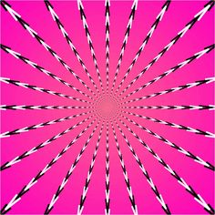 """Pulsing Pink and Black Optical Illusion - Akiyoshi's """"Hatpin Urchin"""" Eye Illusions, Cool Optical Illusions, Art Optical, Image Illusion, Illusion Gif, Op Art, Bg Design, Graphic Design, Eyes Game"""