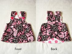 too cute! the dress is super easy to make and then converts to a shirt when she grows out of the dress