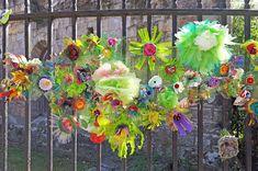 Hippystitch: York's Bloomin' Marvellous Flowerwall in Bloom! - Part 1 Orange Flowers, White Flowers, Community Art, Flower Making, Flower Wall, Kids And Parenting, Floral Wreath, Bloom, York