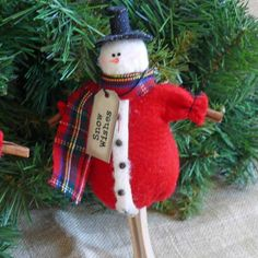 Snowman Christmas Tree Ornament by SnowmanCollector on Etsy, $9.00