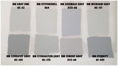 Benjamin Moore Gray Paint: really into Gray Owl Oystershell And Wickham Gray