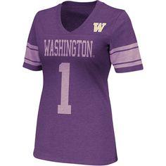 Washington Huskies Purple Women's Rebel V-Neck T-Shirt