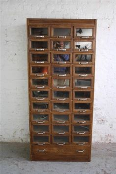 Vintage 31 Drawer Haberdashery Cabinet Chest Shop Fitting Display #1204