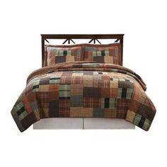 Jewel Tone Plaid Quilt Set