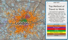Londoners as a whole take the train to work. East Londoners love their bikes more than anyone else in the capital. And a large share of the city's walking commuters seem to come from a religious minority.  These are some of the interesting conclusions to be drawn from an unexpectedly beautiful, incredibly detailed map of London's commuter habits. Created by Oliver O'Brien, a researcher for the Consumer Data Research Centre based at University College London.