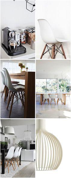 Spisestue stoler - check! Work Surface, Modern Kitchen Design, Table Decorations, Chair, Simple, Furniture, Bedroom Ideas, Home Decor, Blogging