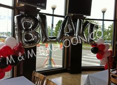 Name Banner Arch with Spiral Pattern Latex for Birthdays or Graduations