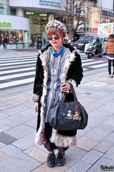 Long Shearling Jacket in Harajuku