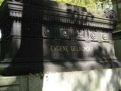 delacroix - famous french painter -buried in pere lachaise cemetery in paris