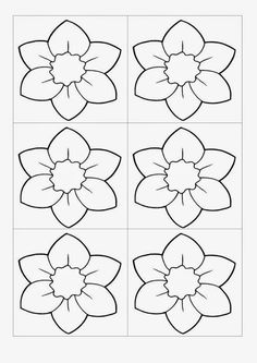 Customize these flowers anyway you can with free printable templates. Felt Crafts, Easter Crafts, Diy And Crafts, Crafts For Kids, Applique Patterns, Flower Patterns, Quilt Patterns, Felt Flowers, Paper Flowers