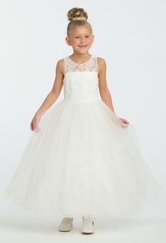 d9651b62db She ll be grinning from ear to ear all day in this elegant flower girl