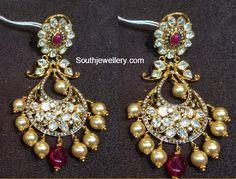 Polki Diamond Pacchi Chandbalis - Jewellery Designs