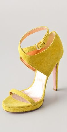 I would wear these pretties with cropped skinny jeans.  A little ankle is needed for these shoes.  Love!    Viktor & Rolf