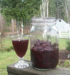 The Alchemist: Homemade Blackberry Liqueur (or blueberry, huckleberry, raspberry, etc...)