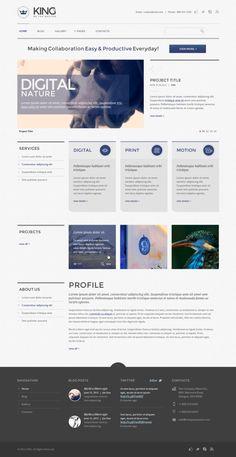 KING PSD Template by Dan Ambrosevich, via Behance