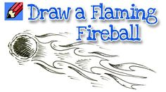 Draw a Flaming Fireball Meteor Real Easy for kids and beginners