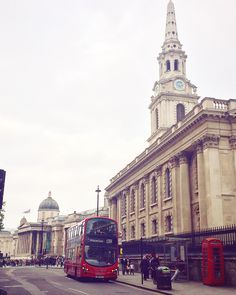 The National Gallery, St-Martin-in-the-fields and the red 'accessories'
