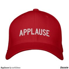 8790393c053 Applause Embroidered Baseball Cap. Zazzle